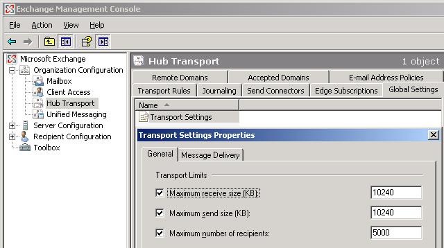 Configure the Exchange Server