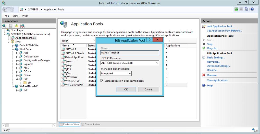 Installing WorkZone PDF Engine
